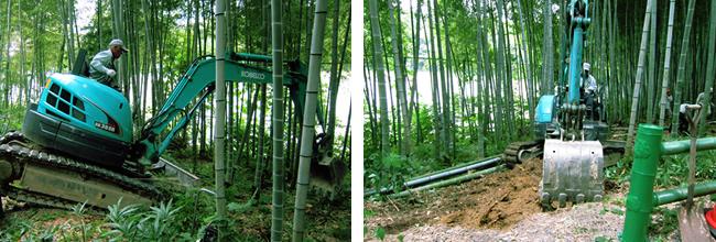 竹林整備で散策道1